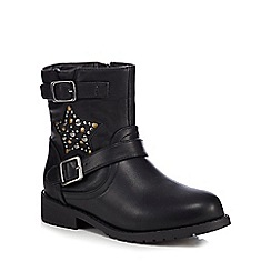 bluezoo - Girls' black star studded biker boots