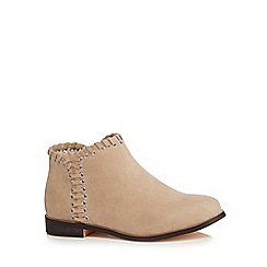 Mantaray - Girls' tan suedette ankle boots