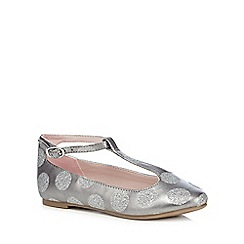 J by Jasper Conran - Girls' silver pumps