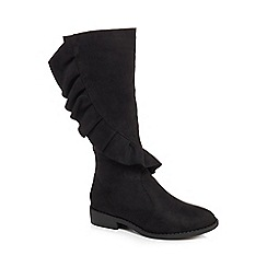 bluezoo - Girls' black suedette boots