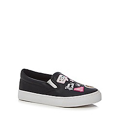 bluezoo - Girls' black slip-on trainers