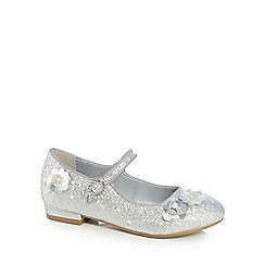 RJR.John Rocha - Girls' silver sequinned buckle shoes