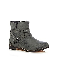 Mantaray - Girls' grey ankle boots