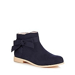 J by Jasper Conran - Girls' navy suedette ankle boots