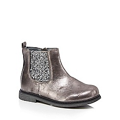 bluezoo - Girls' silver glitter Chelsea boots
