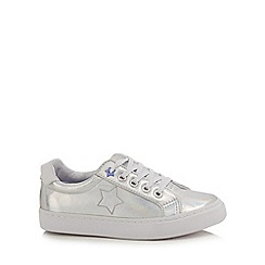 bluezoo - Girls' silver 'Mermaid' trainers