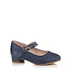 J by Jasper Conran - Girls' navy glitter shoes