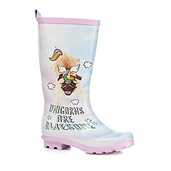 bluezoo - Girls' multi-coloured 'Unicorns are awesome' wellies