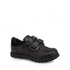 Debenhams - Boys' black scuff resistant 2 tab school shoes