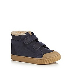 bluezoo - Boys' navy fleece lined boots