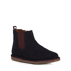 Baker by Ted Baker - Girls' navy suede Chelsea boots