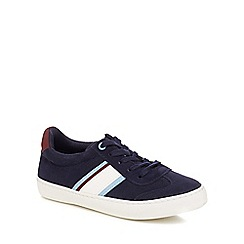 J by Jasper Conran - Boys' navy suedette lace up trainers