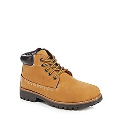 Mantaray - Boys' leather tan ankle boots