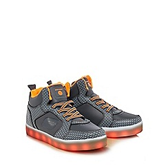 Skechers - Boys' grey light up high tops