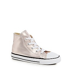 Converse - Girls' pink 'Chuck Taylor' hi-top trainers