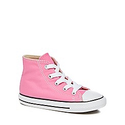 Converse - Girls' canvas pink 'Chuck Taylor' hi-top trainers
