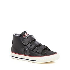Converse - Boys' black leather 'Star Player' hi-top trainers