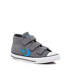 Converse - Boys' grey suede 'Star Player' hi-top trainers