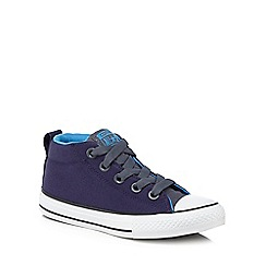 Converse - Boys' navy 'Chuck Taylor' hi-top trainers