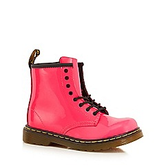 Dr Martens - Girls' pink leather patent 'Brooklee' boots