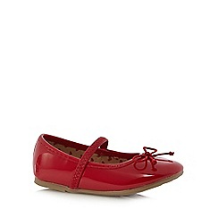 bluezoo - Girl's red patent bow pumps