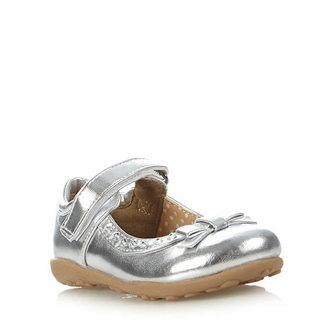 bluezoo - Girl+s silver gem bow shoes