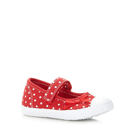 bluezoo - Girl+s red spotted canvas shoes