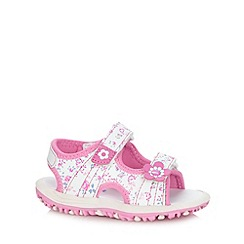 bluezoo - Girl's pink floral printed sandals