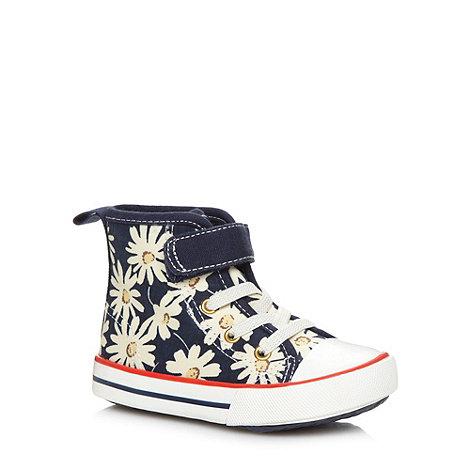 bluezoo - Girl+s navy daisy print boots