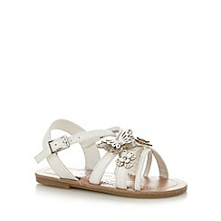 bluezoo - Girl's white butterfly strappy sandals