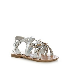 bluezoo - Girl's silver butterfly sandals