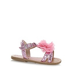 bluezoo - Girl's pink glitter corsage sandals