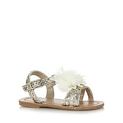 bluezoo - Girl's gold glitter corsage sandals