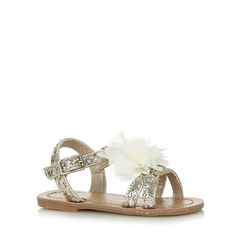bluezoo - Girl+s gold glitter corsage sandals