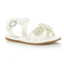 bluezoo - Girl's white jewel flower sandals