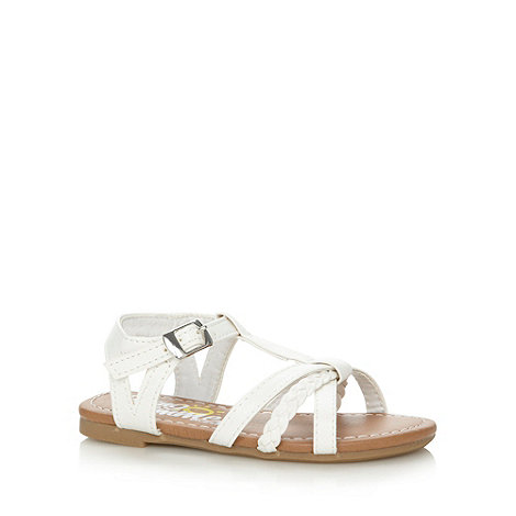 bluezoo - Girl+s white plaited sandals