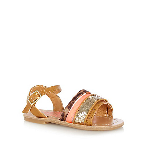 bluezoo - Girl+s tan strappy fashion sandals