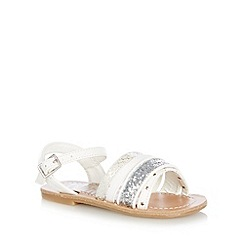 bluezoo - Girl's white strappy fashion sandals