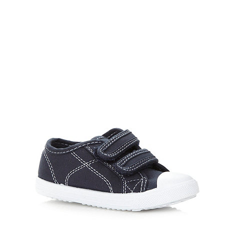 bluezoo - Boy+s navy two tab trainers