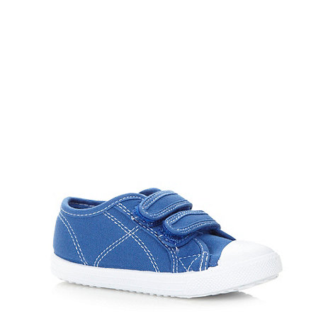 bluezoo - Boy's blue two tab trainers