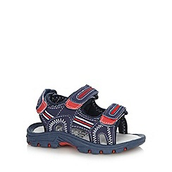 bluezoo - Boy's navy triple strap sandals
