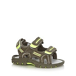 bluezoo - Boy's khaki triple strap sandals