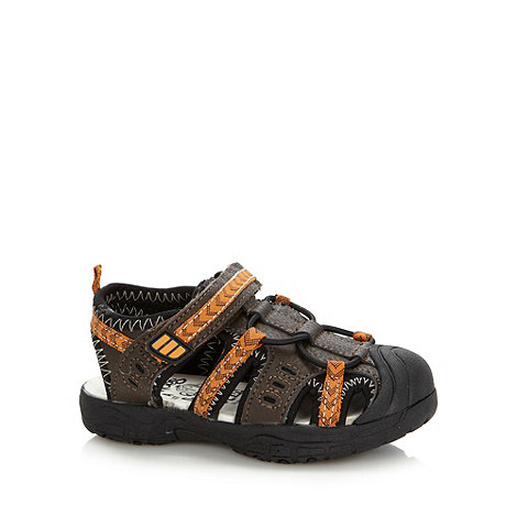 bluezoo - Boy+s brown closed toe sandals