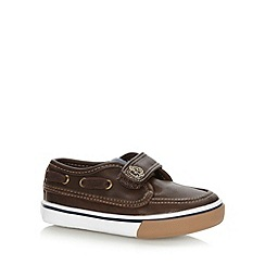 bluezoo - Boy's brown tab boat shoes