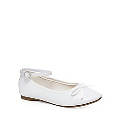 bluezoo - Girls' white ballet pumps