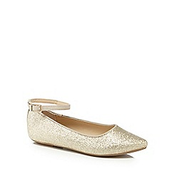 bluezoo - Girls' gold glitter pumps