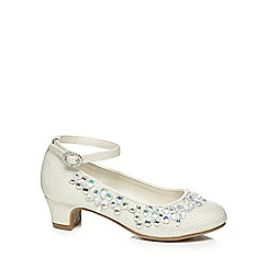 RJR.John Rocha - Girls' ivory glittery jewel embellished heeled shoes