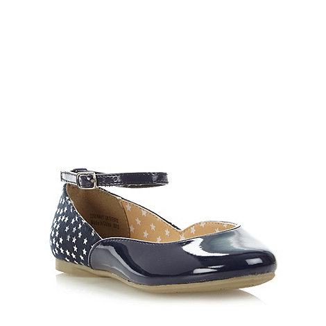 bluezoo - Girl+s navy star patent party pumps