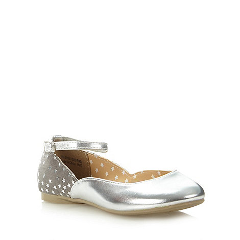 bluezoo - Girl+s silver star party pumps