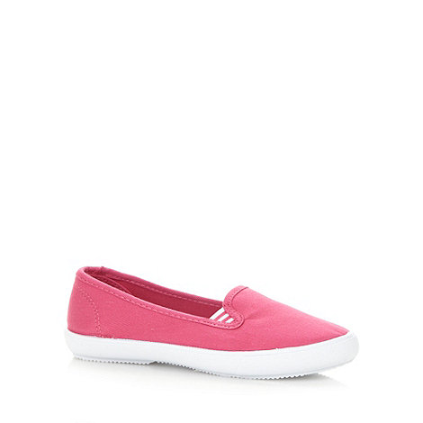 bluezoo - Girl+s pink canvas espadrilles